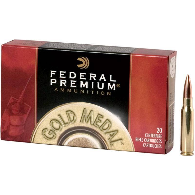 Balle De Chasse Federal Sierra Matchking Bthp Gold Medal Rifle - 168Gr - Calibre 308 Win