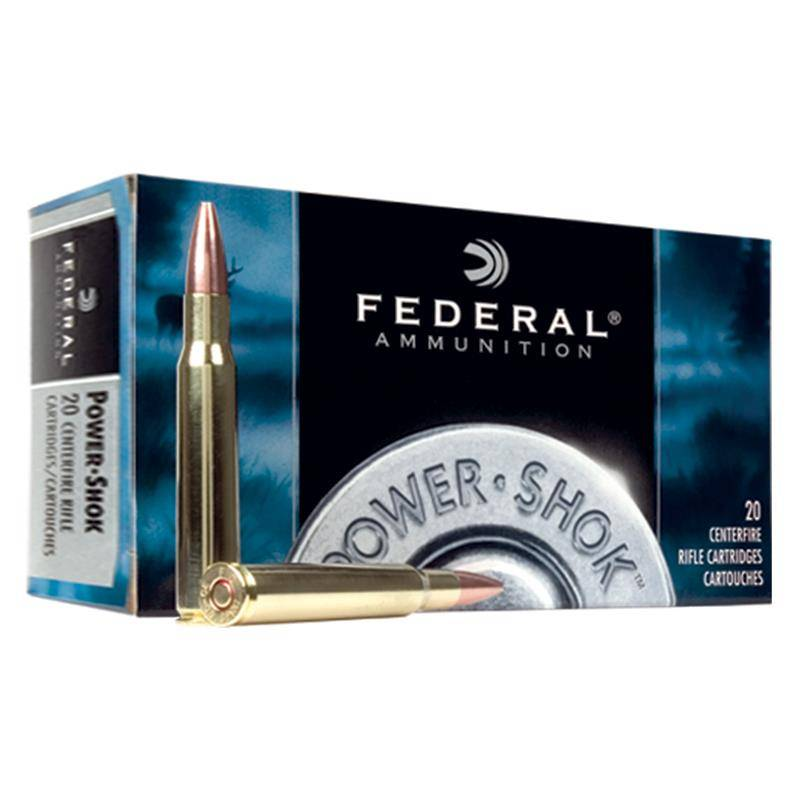 BALLE DE CHASSE FEDERAL SOFT POINT POWERSHOK - 180GR - CALIBRE 30-06 SPRG