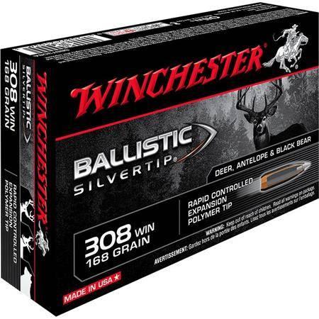 BALLE DE CHASSE WINCHESTER BALLISTIC SILVERTIP - 168GR - CALIBRE 308 WIN