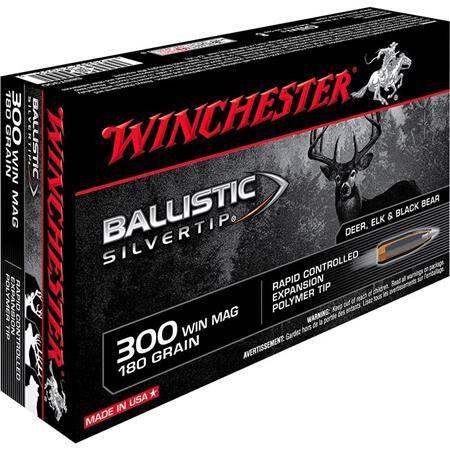 BALLE DE CHASSE WINCHESTER BALLISTIC SILVERTIP - 180GR - CALIBRE 300 WIN MAG
