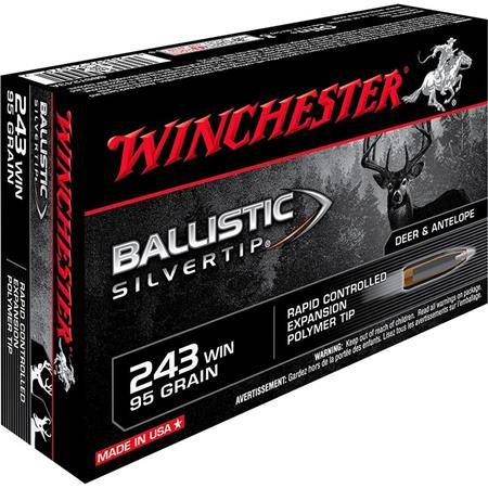BALLE DE CHASSE WINCHESTER BALLISTIC SILVERTIP - 95GR - CALIBRE 243 WIN