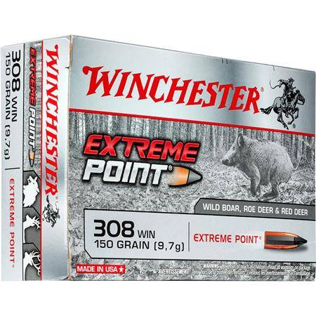 BALLE DE CHASSE WINCHESTER EXTREME POINT LEAD FREE - 150GR - CALIBRE 308 WIN