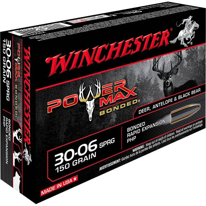 Balle De Chasse Winchester Power-Max Bonded - 150Gr - Calibre 30-06 Sprg