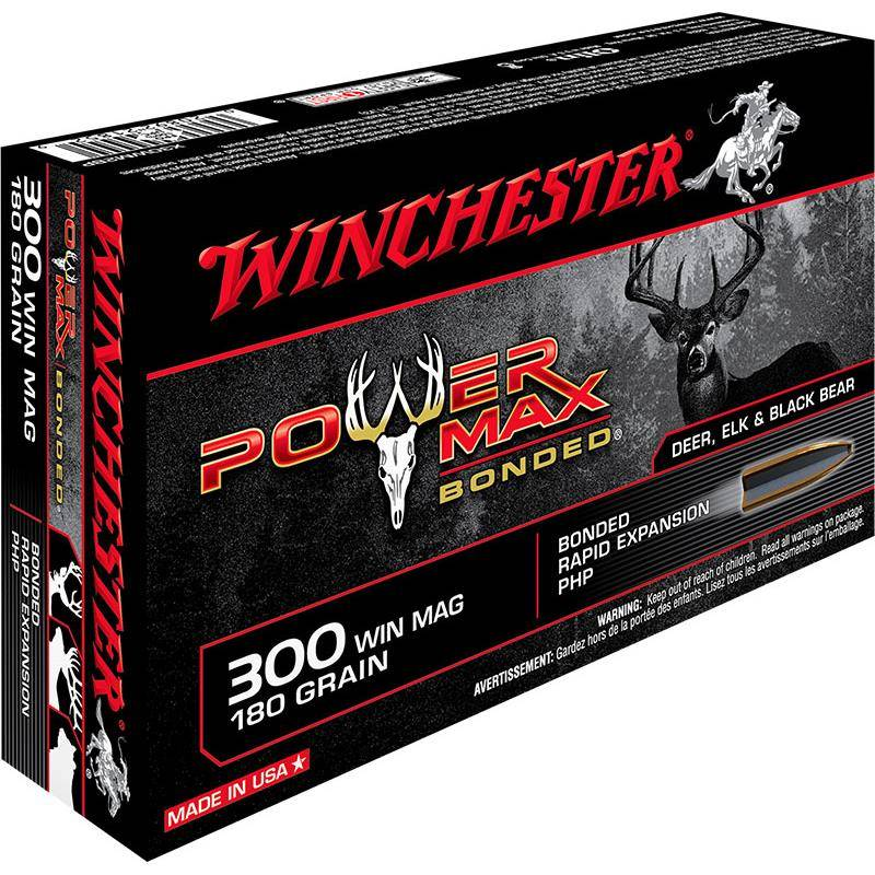 Balle De Chasse Winchester Power-Max Bonded - 180Gr - Calibre 300 Win Mag