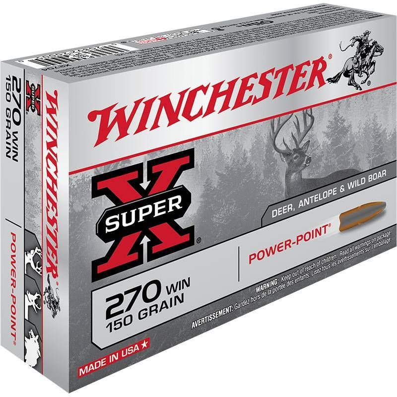Balle De Chasse Winchester Power Point - 150Gr - Calibre 270 Win