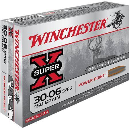 BALLE DE CHASSE WINCHESTER POWER POINT - 150GR - CALIBRE 30-06 SPRG