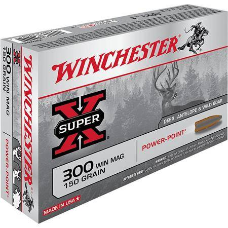 BALLE DE CHASSE WINCHESTER POWER POINT - 150GR - CALIBRE 300 WIN MAG