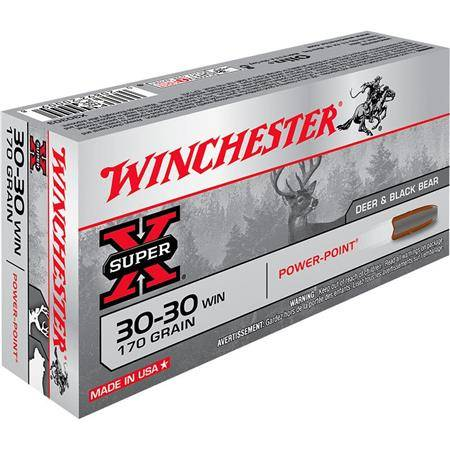 BALLE DE CHASSE WINCHESTER POWER POINT - 170GR - CALIBRE 30-30 WIN