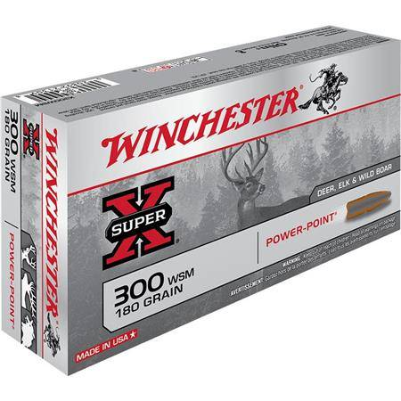 BALLE DE CHASSE WINCHESTER POWER POINT - 180GR - CALIBRE 300 WSM