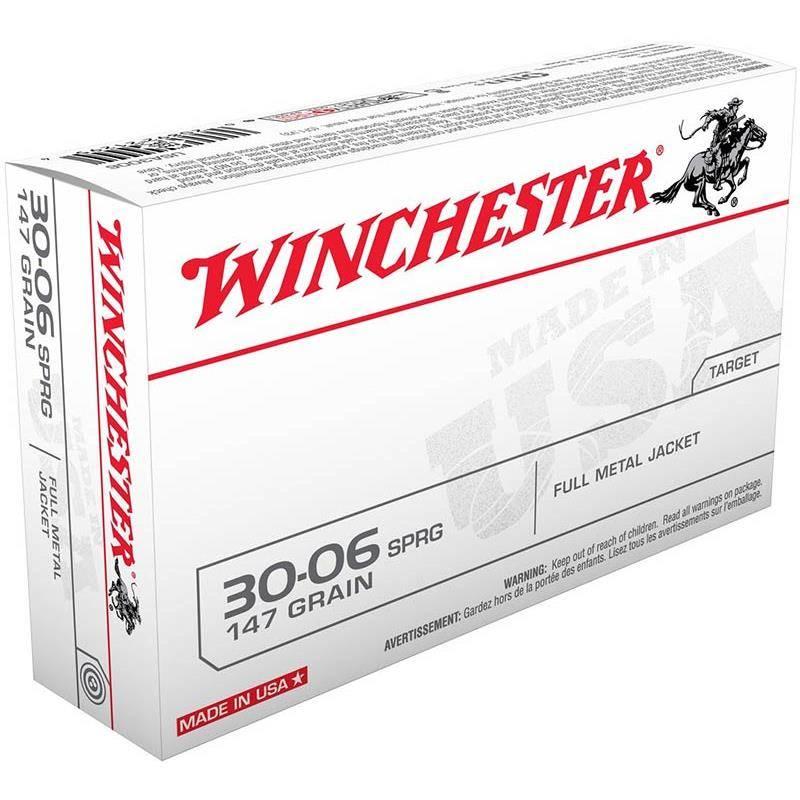 Balle De Chasse Winchester Winch Fmj - 147Gr - Calibre 308 Win
