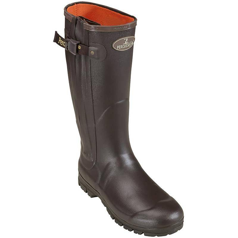 Bottes Homme Percussion Full Zip Rambouillet - Marron