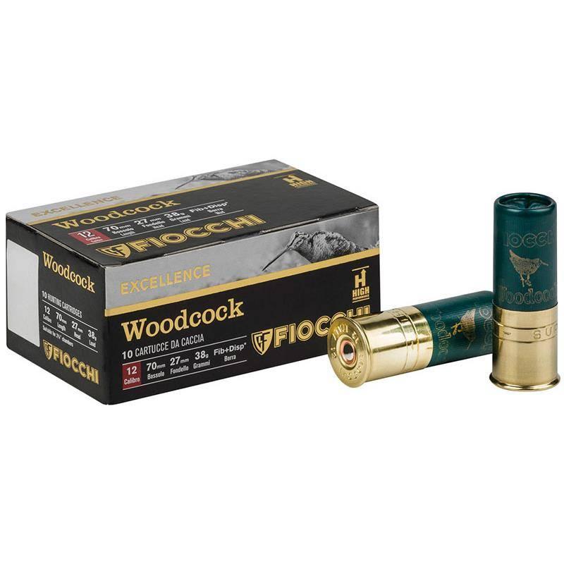 Cartouche De Chasse Fiocchi Woodcock - 38G - Calibre 12/70