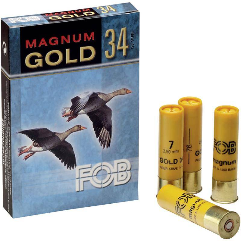 Cartouche De Chasse Fob Gold 34 Magnum - 34G - Calibre 20