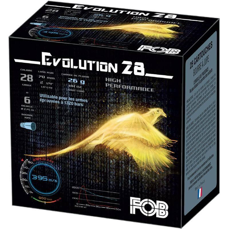Cartouche De Chasse Fob Performance Evolution 28 Hp - 26G - Calibre 28