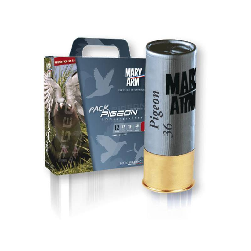 Cartouche De Chasse Mary Arm Pack Pigeon 36 - 36G - Calibre 12