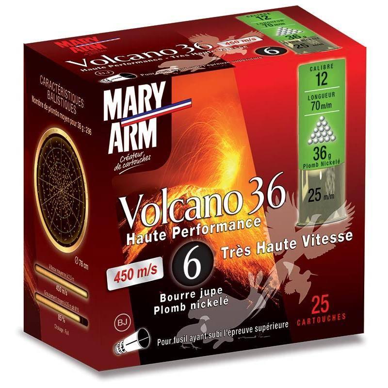 Cartouche De Chasse Mary Arm Volcano 36 Bj - 36G - Calibre 12