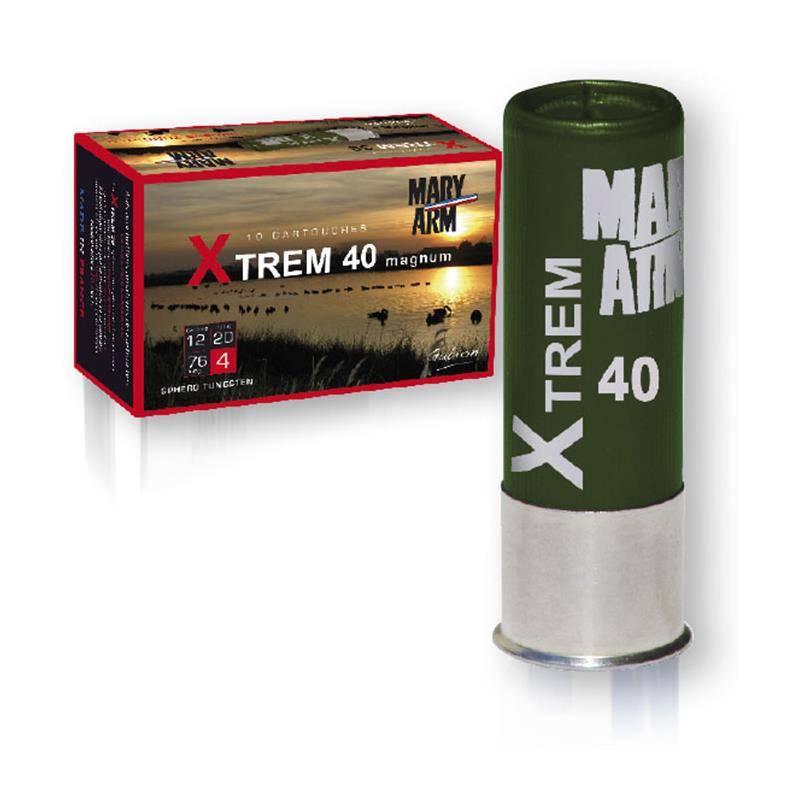 CARTOUCHE DE CHASSE MARY ARM XTREM 40 MAGNUM - 40G - CALIBRE 12