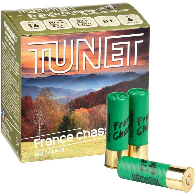 Cartouche De Chasse Tunet France Chasse - 32G - Calibre 16