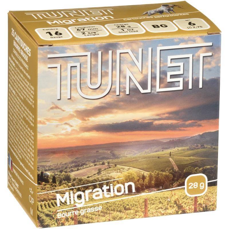 Cartouche De Chasse Tunet Migration - 28G - Calibre 16