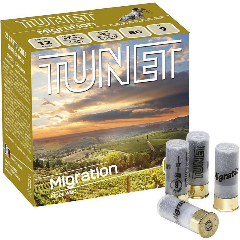 Cartouche De Chasse Tunet Migration - 32G - Calibre 12