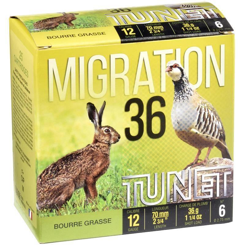 Cartouche De Chasse Tunet Migration 36 - 36G - Calibre 12