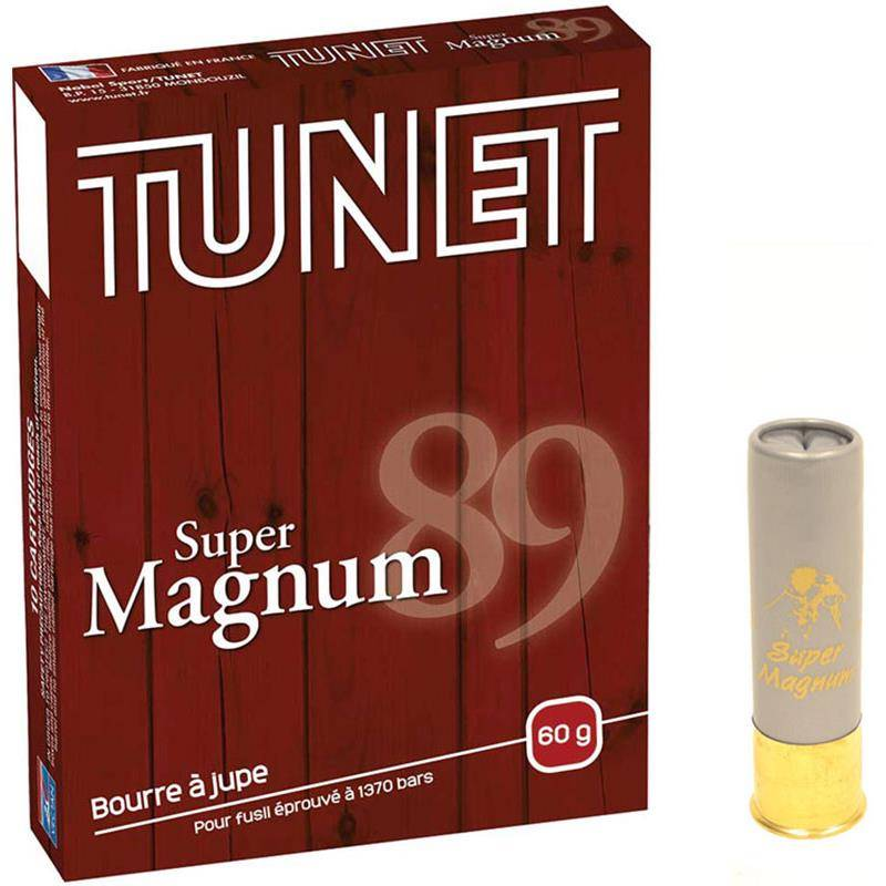Cartouche De Chasse Tunet Super Magnum - 60G - Calibre 12