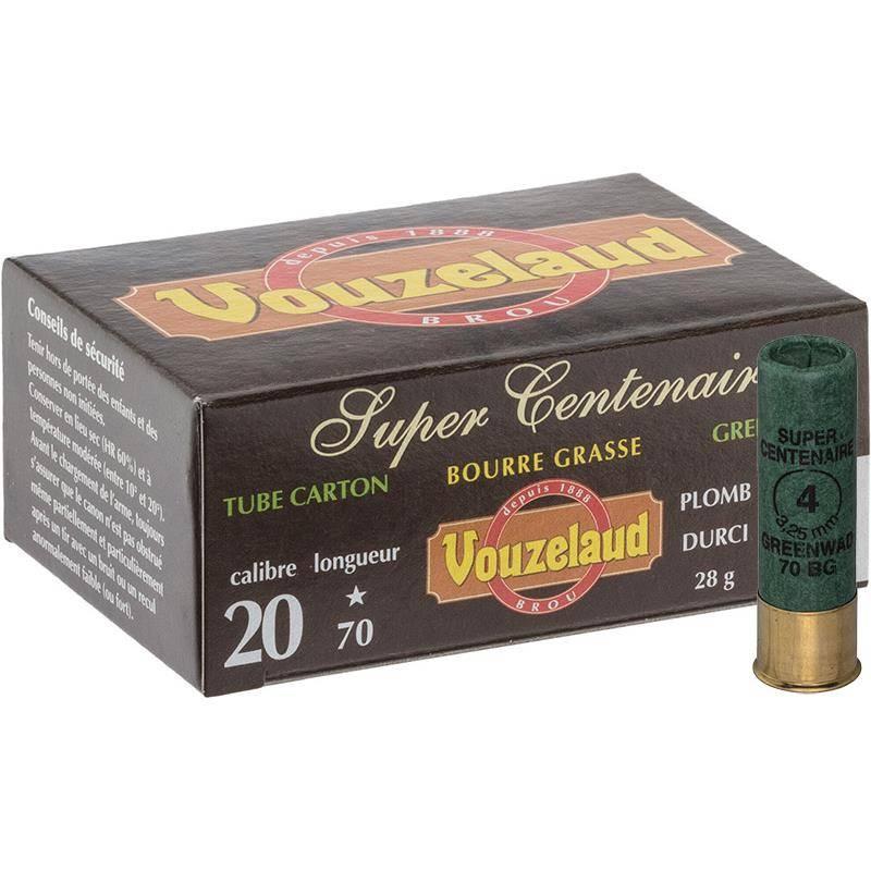 Cartouche De Chasse Vouzelaud Super Centenaire - 28G - Calibre 20