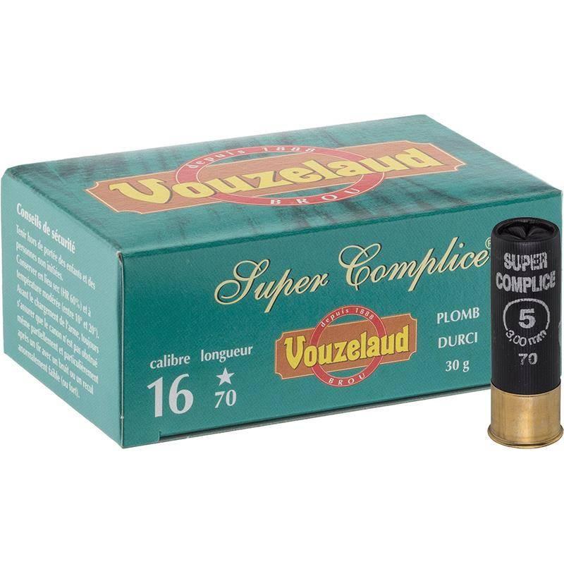 Cartouche De Chasse Vouzelaud Super Complice 70 - 30G - Calibre 16