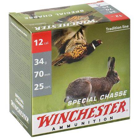 CARTOUCHE DE CHASSE WINCHESTER SPECIAL CHASSE - 34G - CALIBRE 12/70