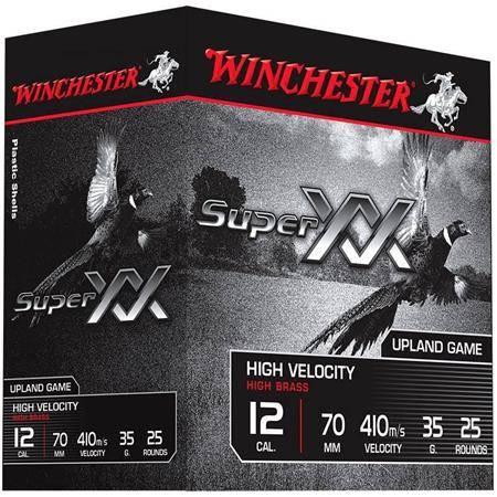 CARTOUCHE DE CHASSE WINCHESTER SUPER XX - 63G - CALIBRE 12/89