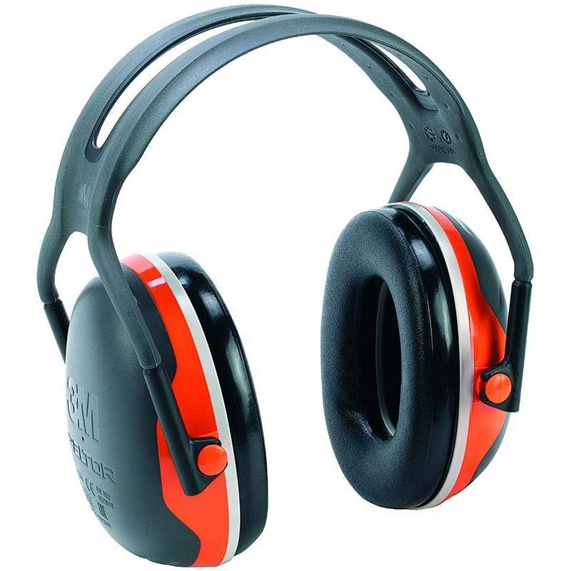 Casque Anti Bruit Peltor X4a Noir/Orange Fluo