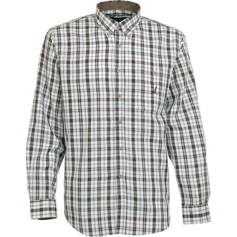 Chemise Manches Longues Homme Idaho Tradition - Marron/Vert
