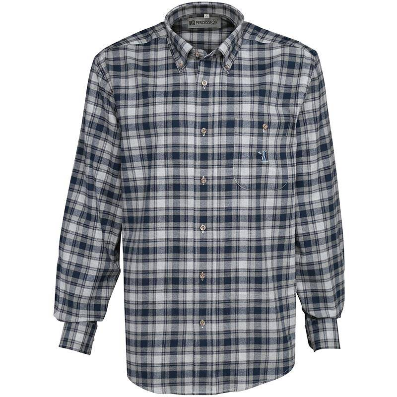 Chemise Manches Longues Homme Percussion Tradition - Bleu