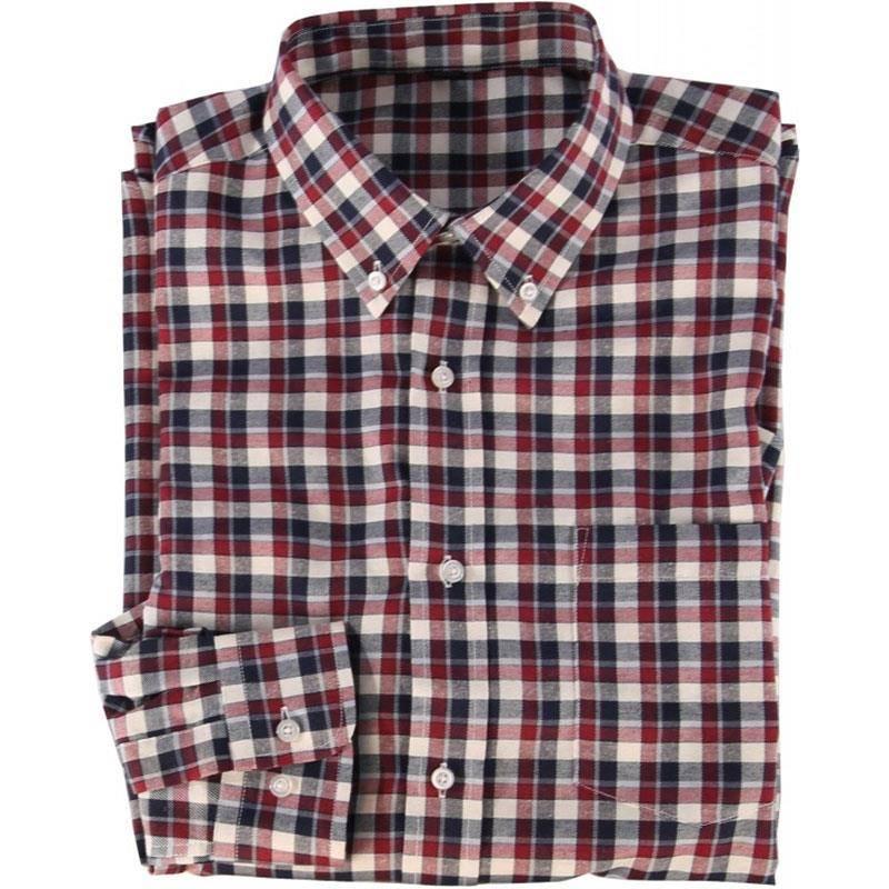 Chemises Manches Longues Homme Somlys 510 - Carreaux Rouge