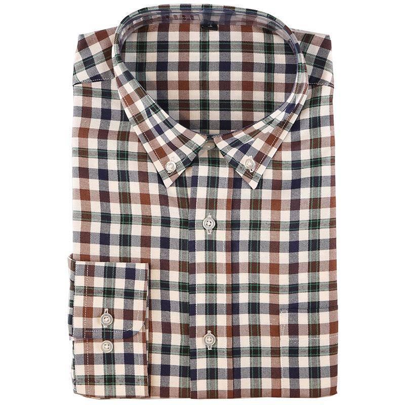 Chemises Manches Longues Homme Somlys 511 - Carreaux Marron