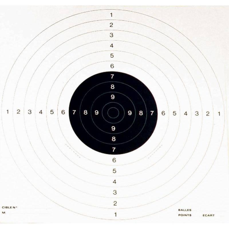 Cible Carton Colombi Sports Tir Pistolet - Par 100