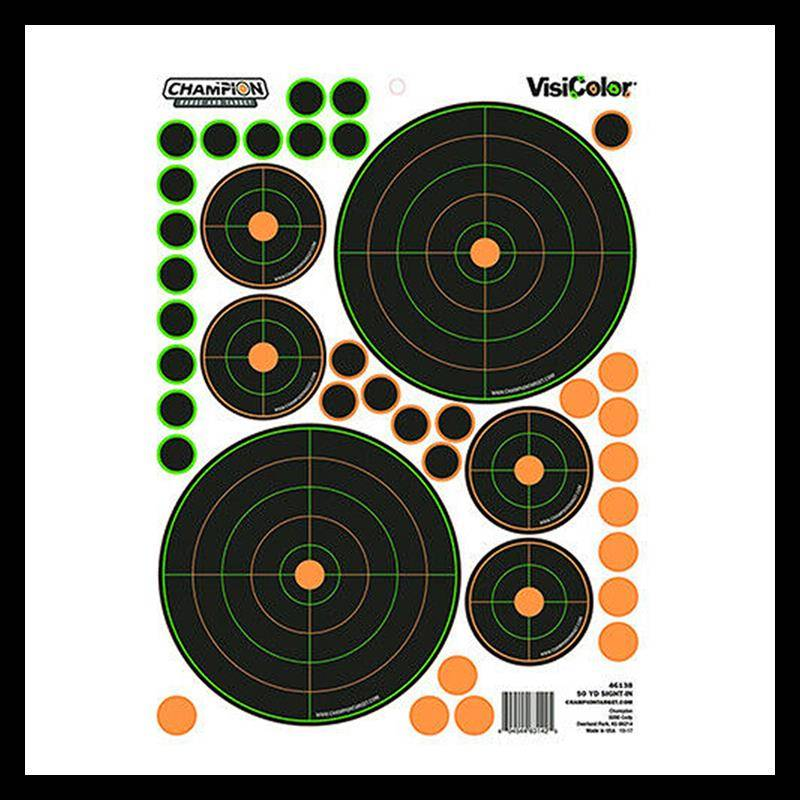 Cible Champion Visicolor Adhesives Avec Pastilles Integrees - 1,7 Cm Et 4 X 5,5 Cm