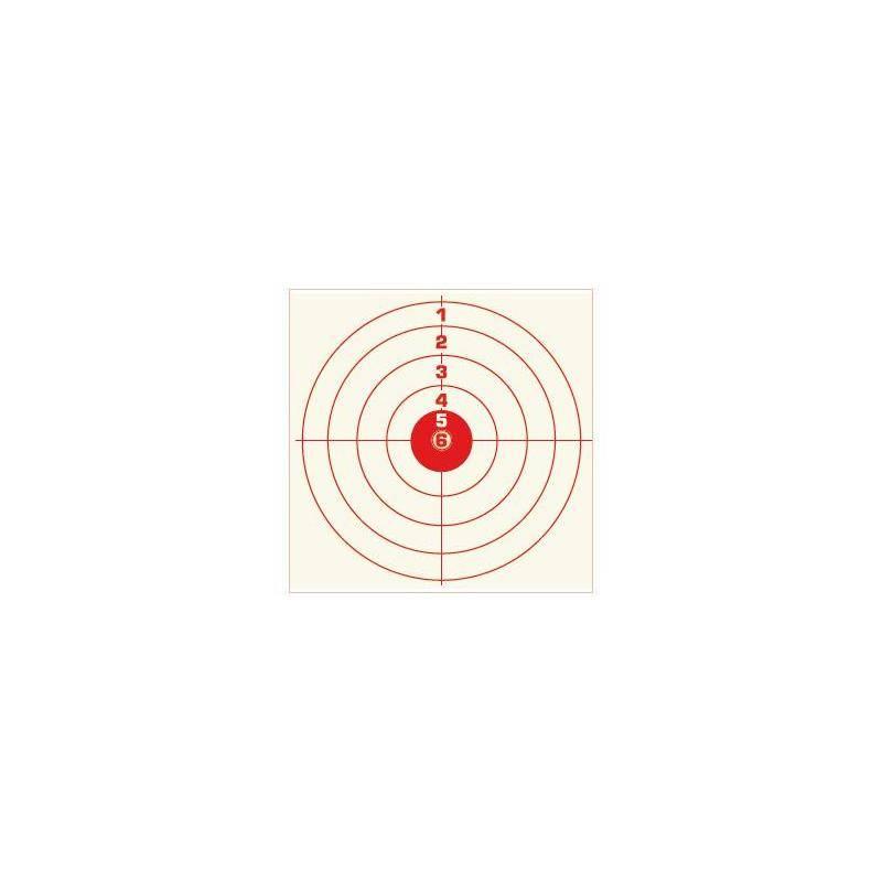 Cible Rouge Colombi Sports Tir Carabine 14X14 10 Metres - Par 100