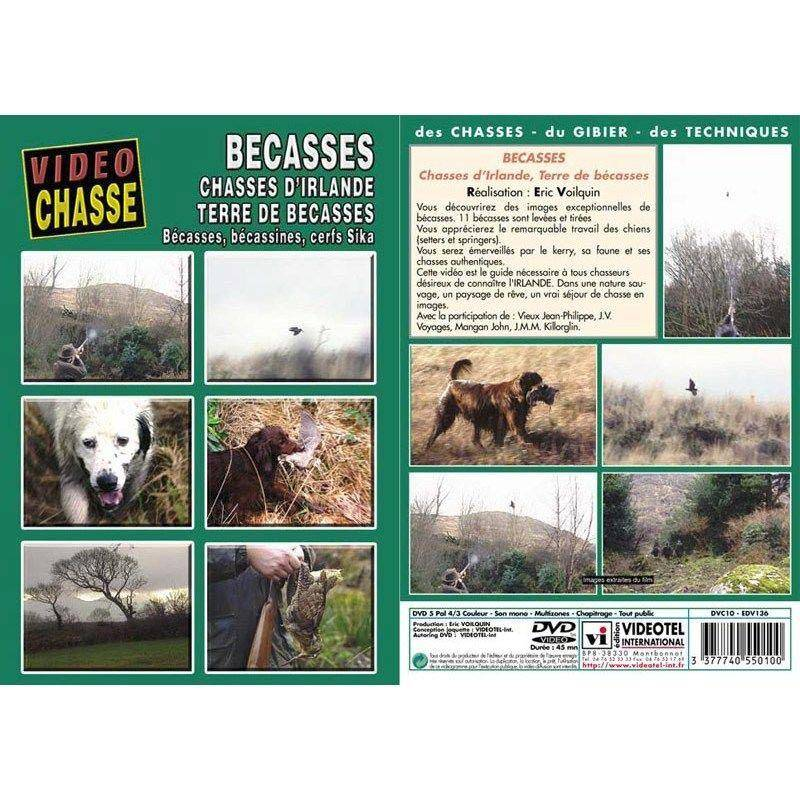 Dvd - Becasse : Chasses D'irlande, Terre De Becasses  - Chasse Du Petit Gibier - Video Chasse