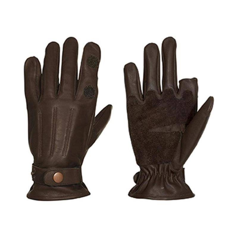 Gants Homme Percussion Grand Froid Cuir - Marron