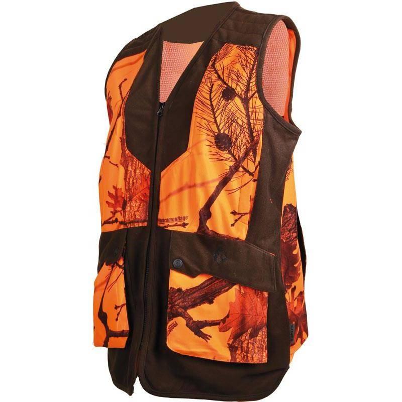 Gilet Chasse Femme Somlys 248 Lady - Camou Orange