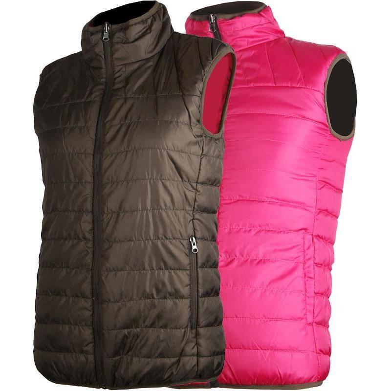 Gilet Sans Manches Femme Somlys 414 Warm Ligth Reversible - Marron/Rose