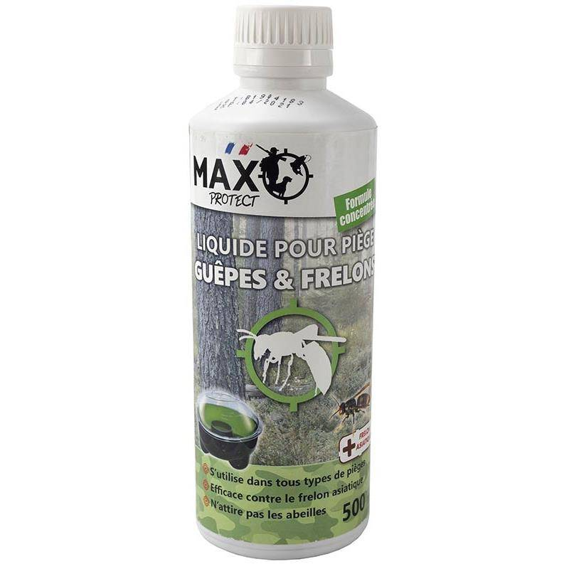 Insecticide Max Protect Pour Piege A Guëpes, Frelons Et Mouches - 500Ml