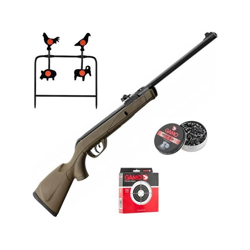 Pack Carabine A Plomb Gamo Pack Noël Kaki 7,5 J