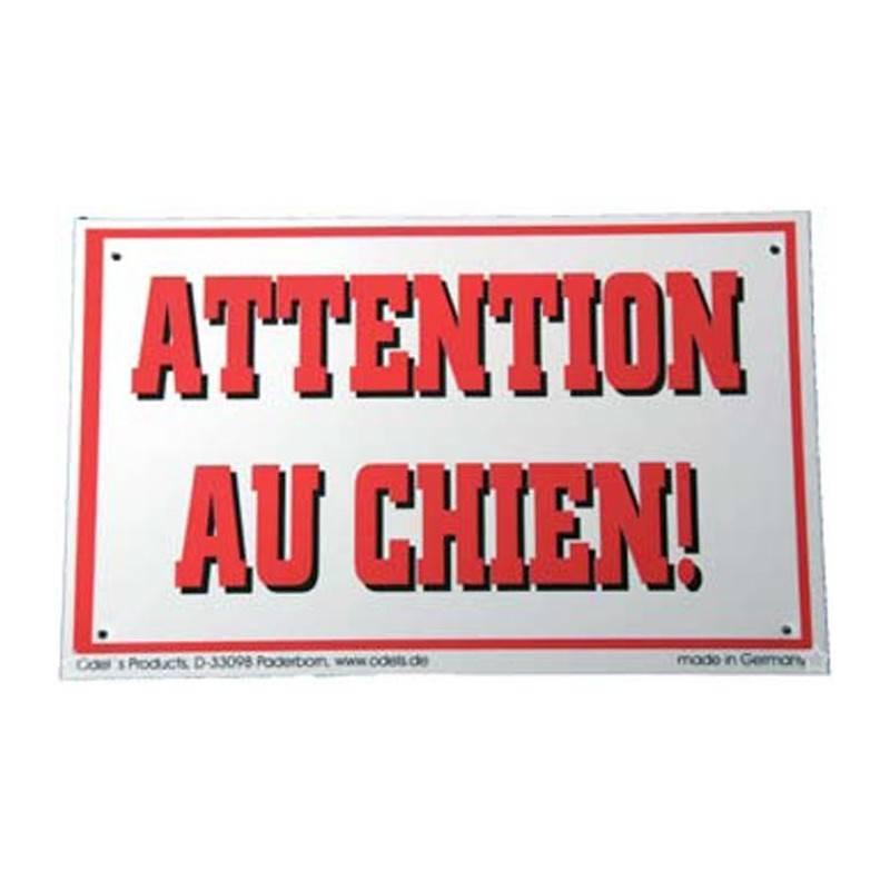 Panneau Avertissement Attention Au Chien