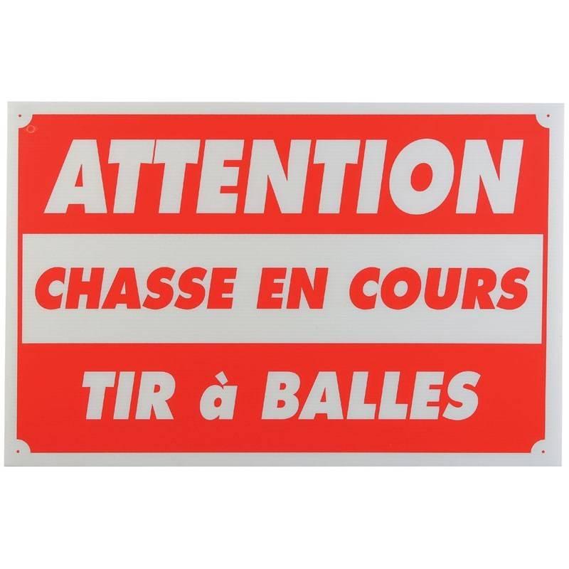 Panneau Signalisation Januel Attention Chasse En Cours Tir A Balles