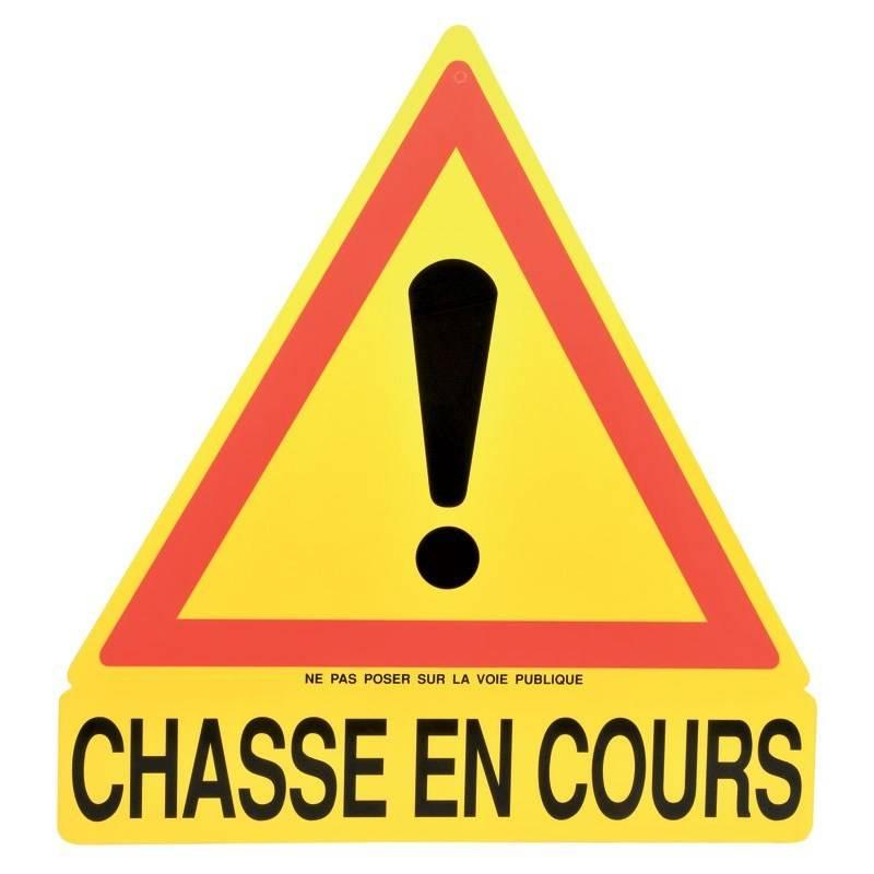 Panneau Signalisation Triangulaire Januel Chasse En Cours