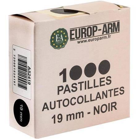 PASTILLE AUTOCOLLANTE EUROP ARM NOIR
