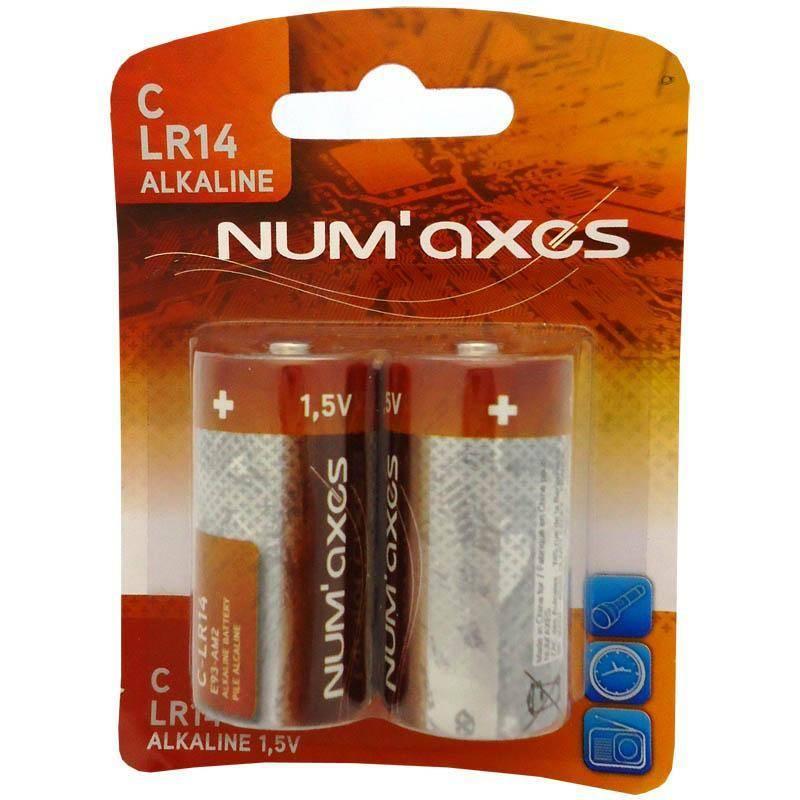Piles Alcalines Numaxes 1,5V C Lr14 - Pochette De 2