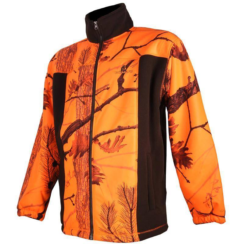 POLAIRE HOMME SOMLYS 485 - CAMOU ORANGE